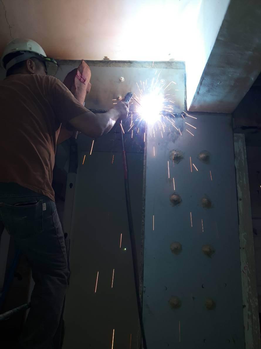 3施工工法-鋼板焊接