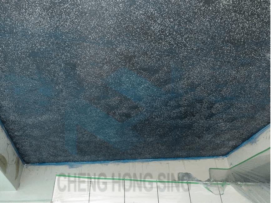 8. 碳纖維貼覆完成(七厘石粗糙面)