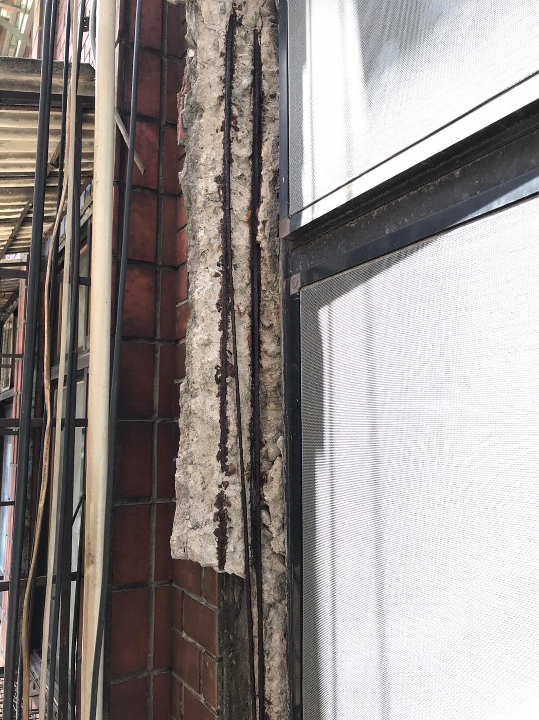 2.磁磚及混凝土鬆脫處打除