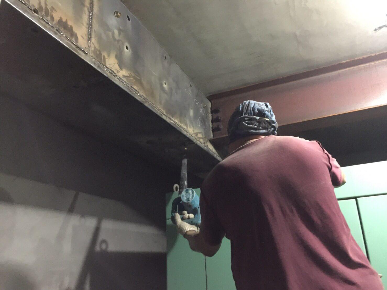 3.鋼板安裝
